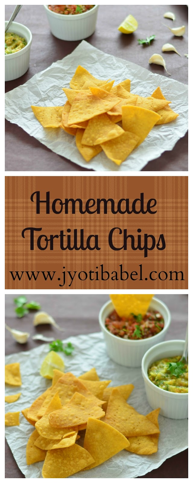 Tortilla Chips is one of the staple dishes in Mexican cuisine. Here is an easy recipe to make tortilla chips using maize flour. www.jyotibabel.com
