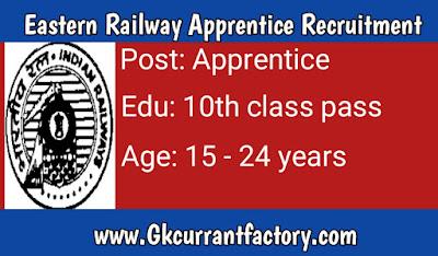 Eastern Railway Apprentice Recruitment, Eastern Railway Recruitment