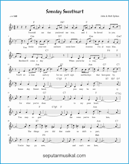 chord someday sweetheart 1 lagu jazz standar