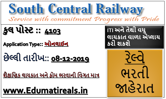 South Central Railway Recruitment 2019 -  4103 Apprentice Recruitment