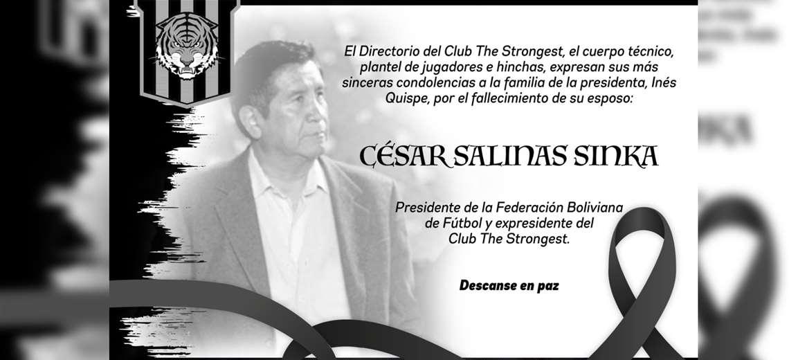 César Salinas fue presidente del The Strongest y ahora su esposa, titular atigrada, también lucha contra el Covid-19 / RRSS