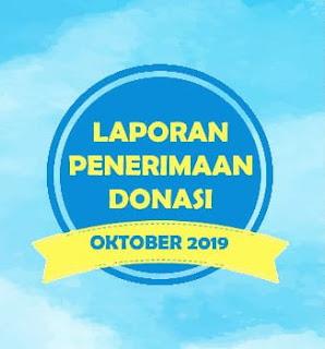 LAPORAN PENERIMAAN DONASI OKTOBER 2019