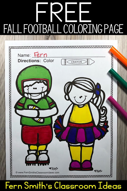Click Here To Download this Free Color For Fun Football Fall Coloring Book Freebie!