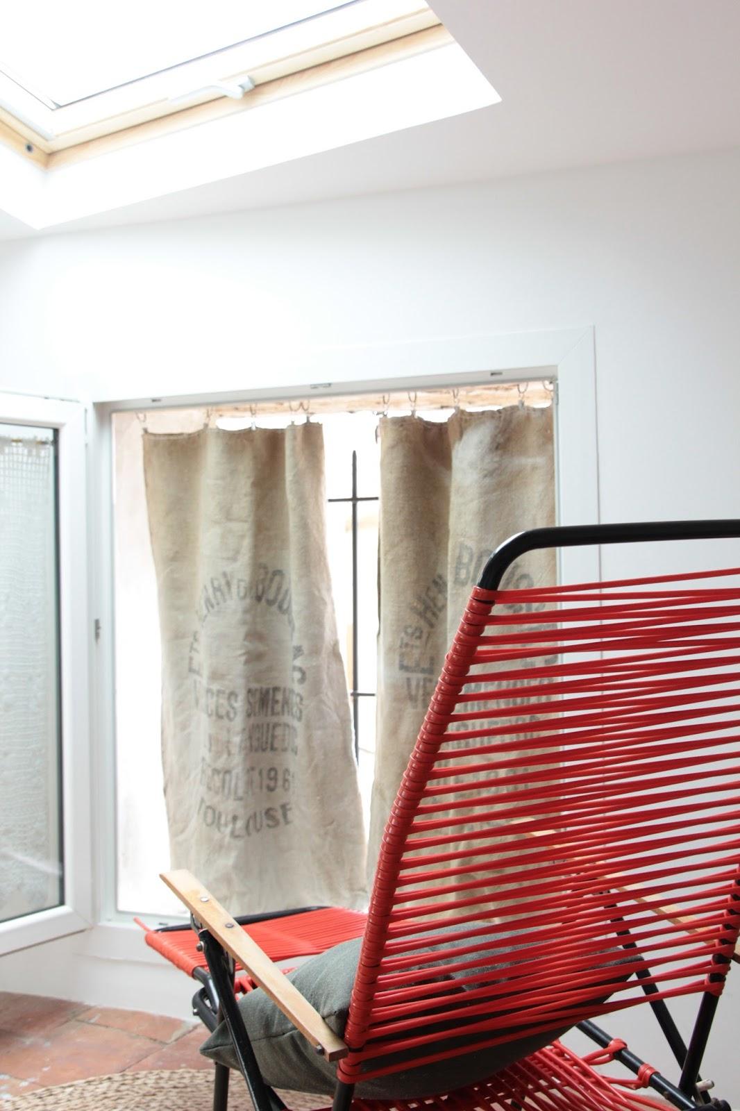 regardsetmaisons mes rideaux en jute homemade diy. Black Bedroom Furniture Sets. Home Design Ideas