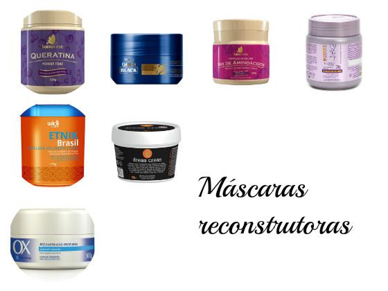 mascaras reconstrucao baratas  low poo