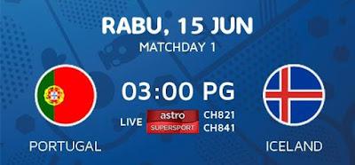 Live Streaming Keputusan Portugal Vs Iceland EURO 2016