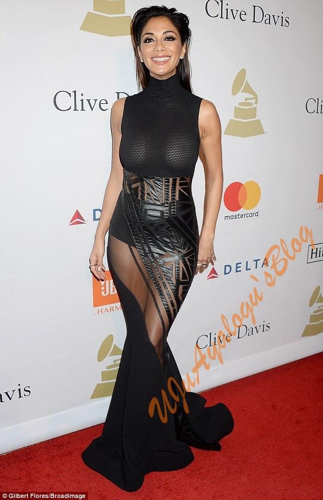 Nicole Scherzinger Flaunts Nipples In a Braless Sheer