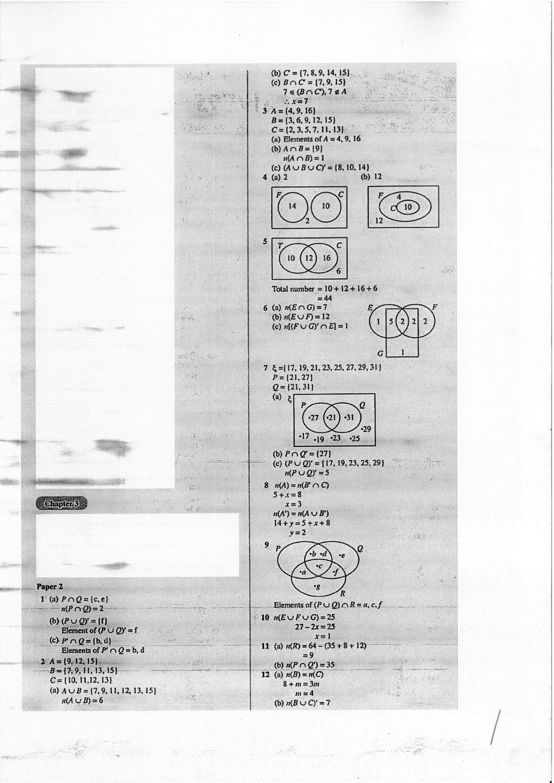 TTC MATHS DEPARTMENT: Form 4 Final Exam Reivsion Pack-Full