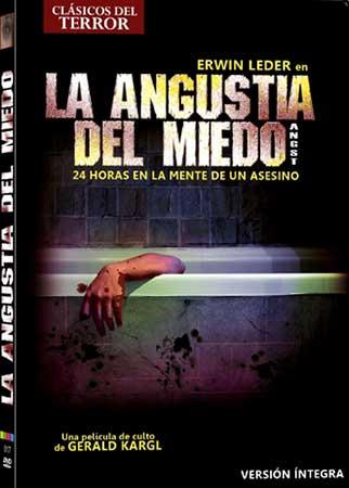 La angustia del miedo, portada edición en dvd