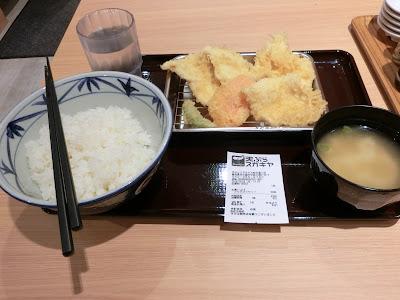 天ぷらスガキヤ とり天セット税込み421円