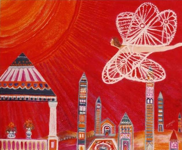 Obra de arte en venta Manuel Carmona: pintura mariposa