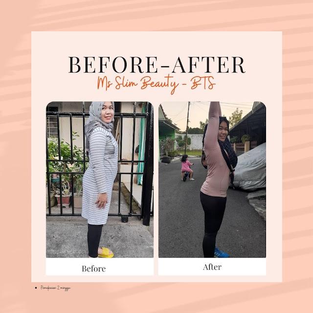 Progres Pemakaian Ms Slim Beauty BTS Package Selama 2 Minggu