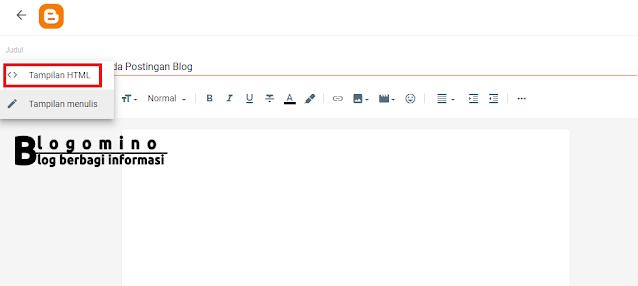 Cara Membuat Tabel Pada Postingan Blog