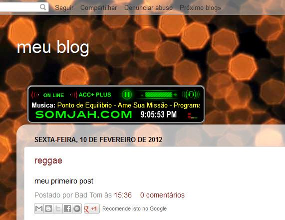 Player Radio Reggae com Relógio - SOMJAH - Rádio Reggae