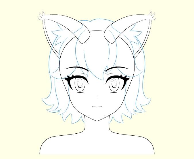 Gambar rambut gadis kucing anime