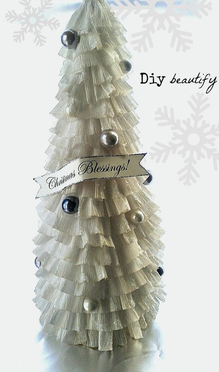 Ruffled Crepe Paper Christmas Trees www.diybeautify.com