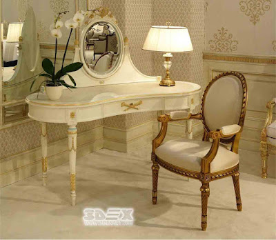 Latest small corner dressing tables for bedroom wooden designs 2019