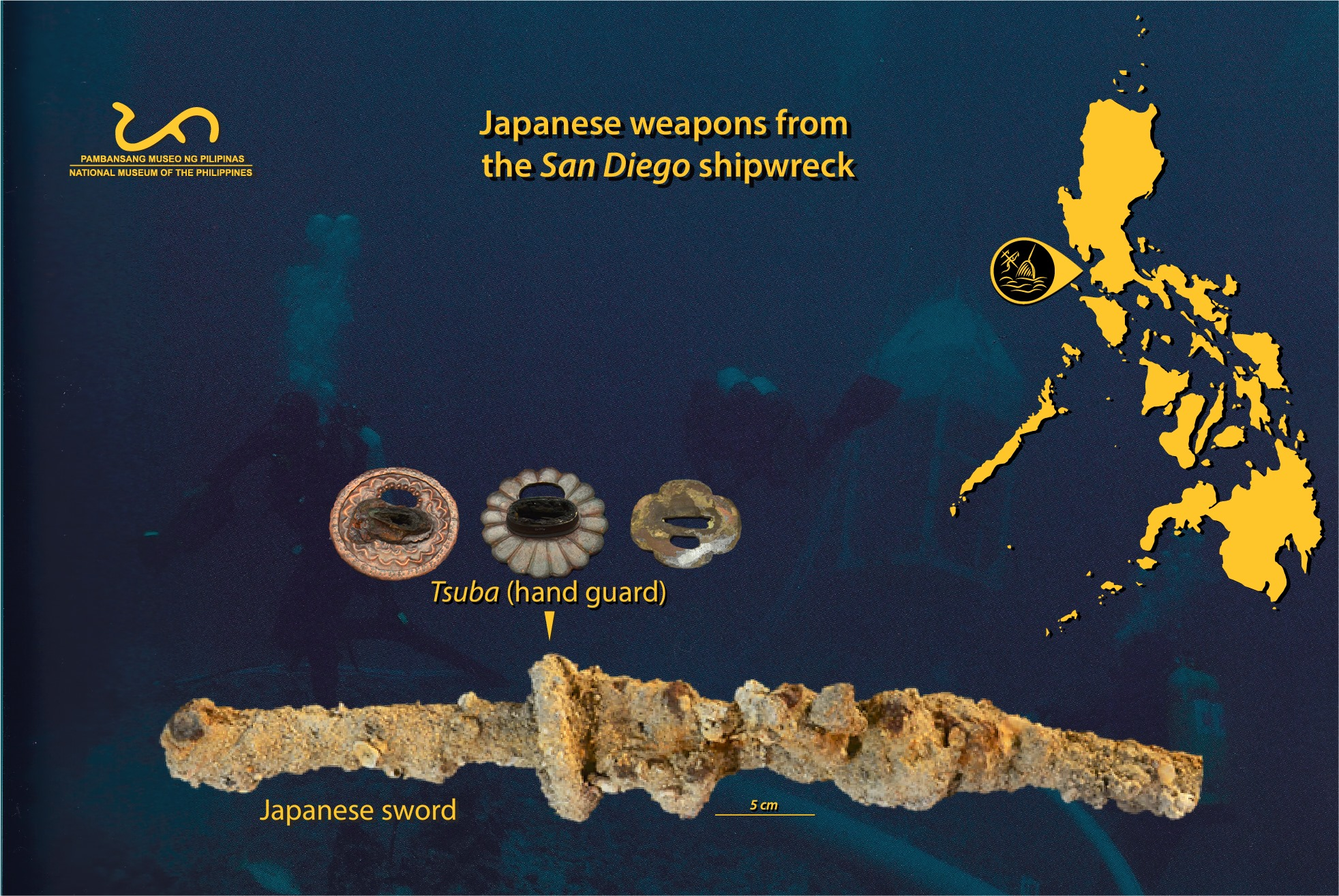 Japanese Sword Found in the San Diego Shipwreck | National Museum of the Philippines