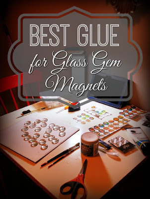 Best Glue for DIY Glass Gem Magnets Crafts by The Funky Felter