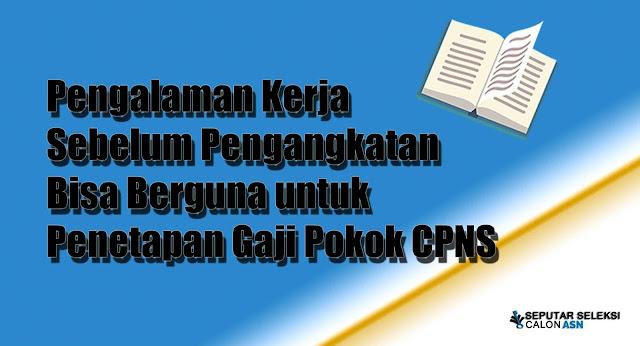 Pengalaman Kerja Sebelum Pengangkatan Bisa Berguna untuk Penetapan Gaji Pokok CPNS