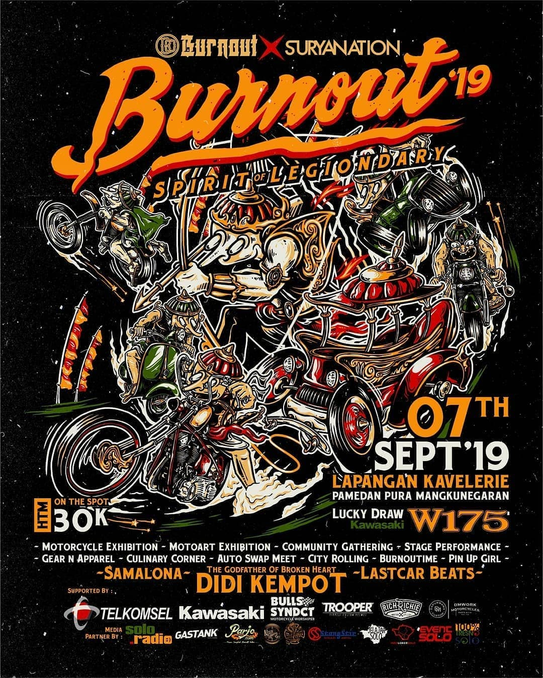 Event BURNOUT 2019 - Spirit Of Legiondary