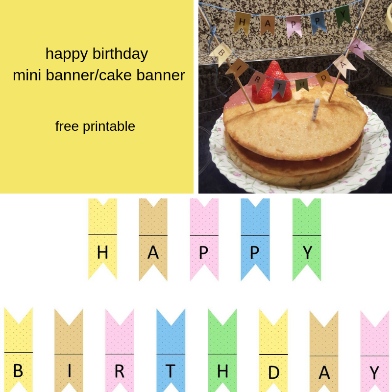 image relating to Free Printable Happy Birthday Banner named delighted birthday mini banner/cake banner (absolutely free printable