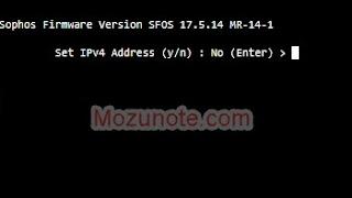 Setup Sophos management Web Configurations