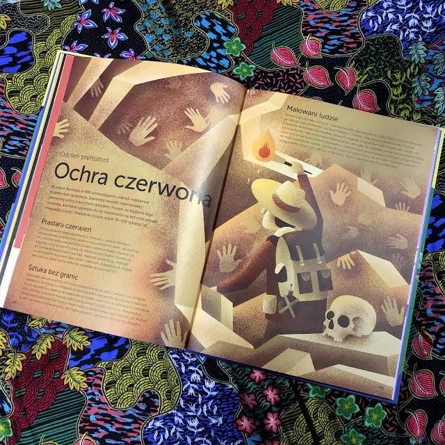 """""""Historia kolorów. Jak kolory kształtowały świat"""", tekst Clive Gifford, ilustracje Marc-Etienne Peintre, Nasza Księgarnia"""