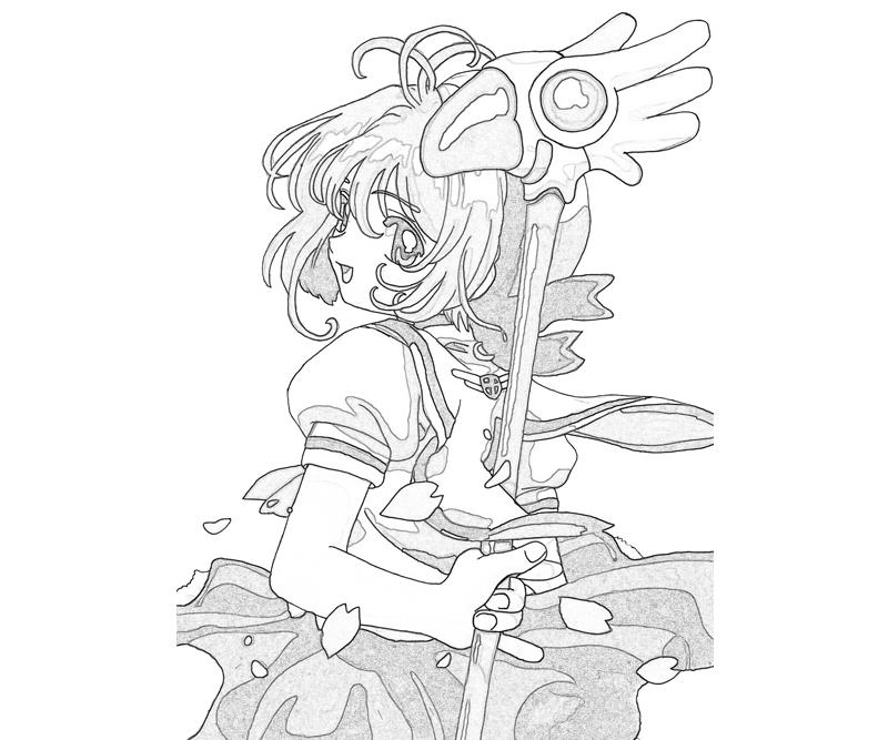 Cardcaptor sakura coloring pages for Cardcaptor sakura coloring pages