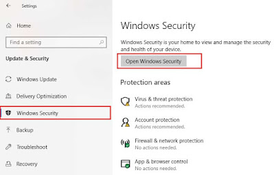 Pengaturan Windows Security