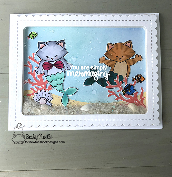 You're simply mermazing  by Becky features Purr-maid Newton, Tranquil Tides, Narly Mermaids, and Frames & Flags by Newton's Nook Designs; #newtonsnook