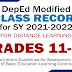 GRADES 11-12 MODIFIED E-CLASS RECORDS (SY 2021-2022) Free Download