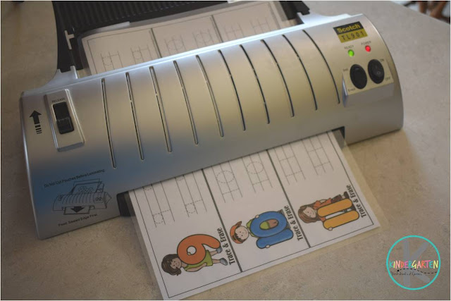 you MUST use a laminator for this trace and erase activity