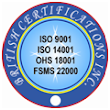 ISO 9001 Certification ISO 14001 Certification ISO 22000 Certification OHS 18001 Certification