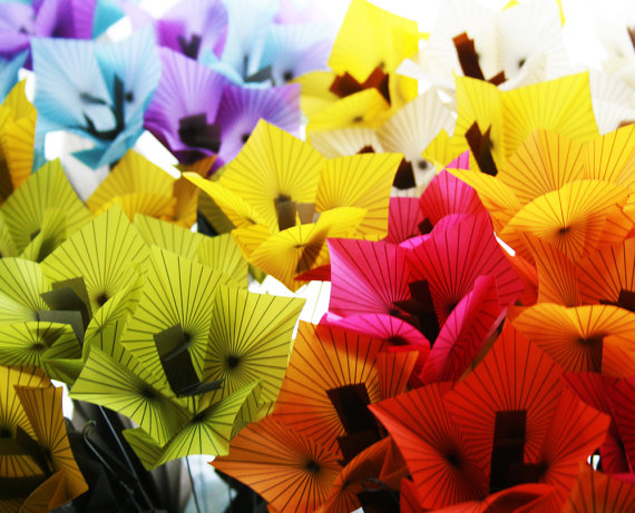 Origami Vellum Flower Bouquet