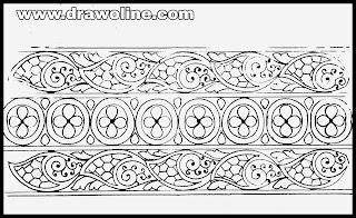 saree border design/saree border designs drawing/sadi ka kinara and shadi ki bel drawings
