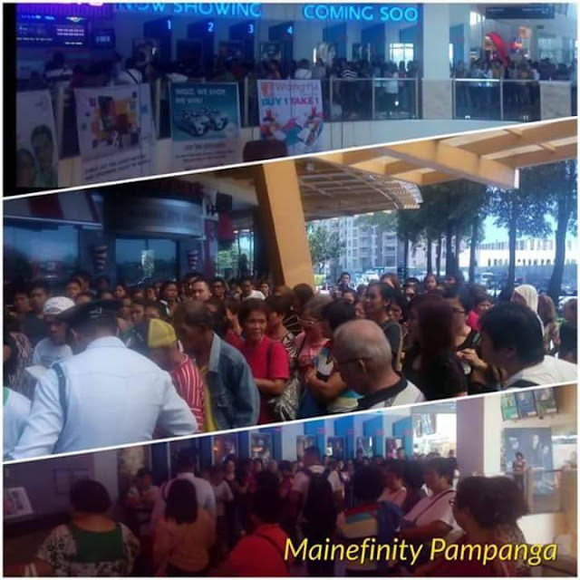 Spotted: Long Queues of Moviegoers for first day of showing of Imagine You And Me