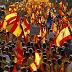 Manifestaciones en Barcelona en contra de la independencia de Cataluña