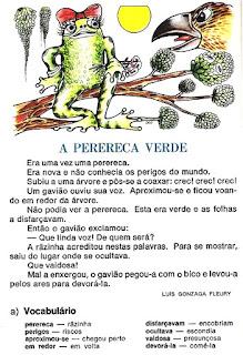 Leitura a perereca verde