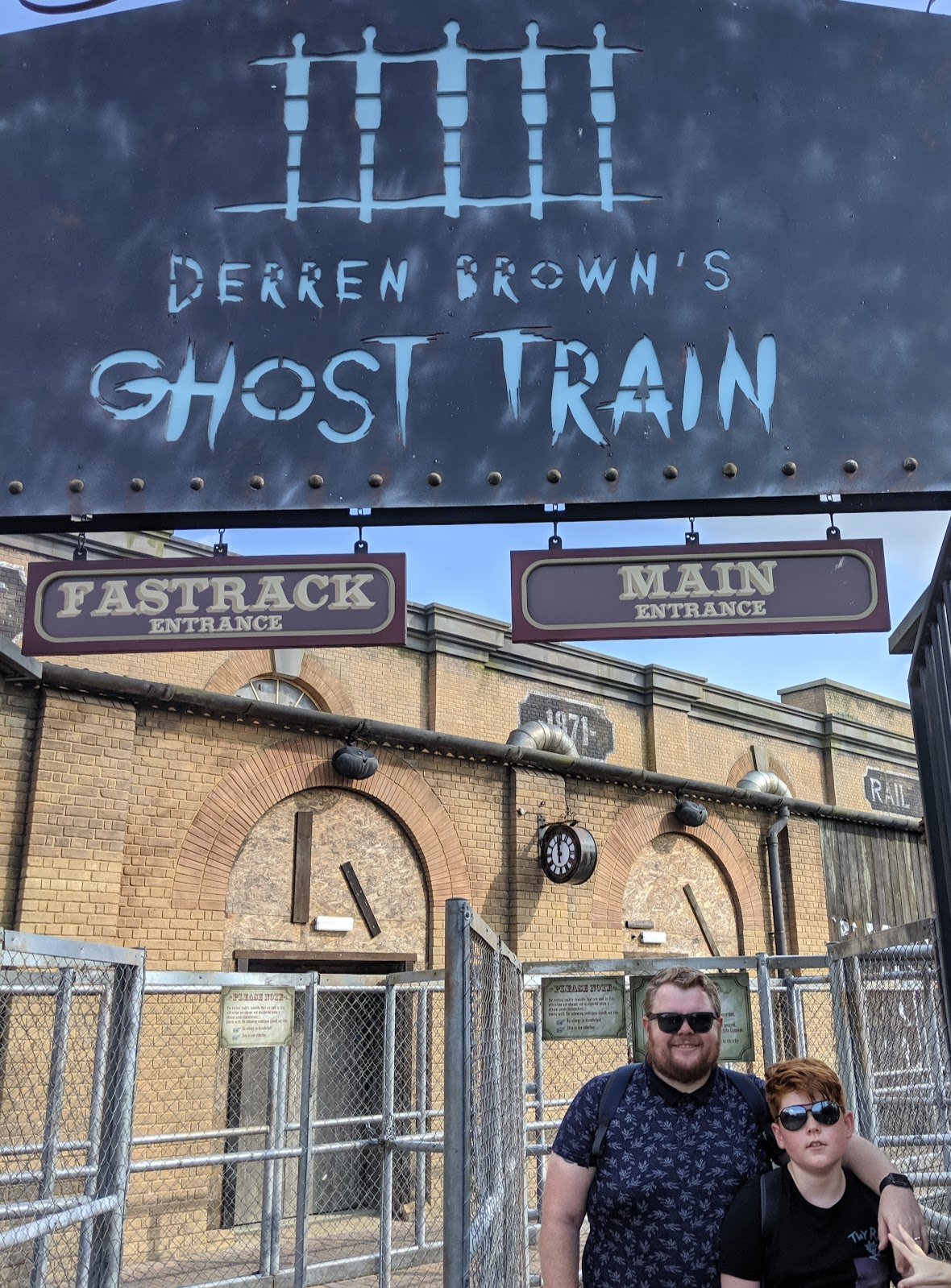 Exploring the Southern Merlin Theme Parks with Tweens  - Derren Brown Ghost Train Ride at Thorpe Park