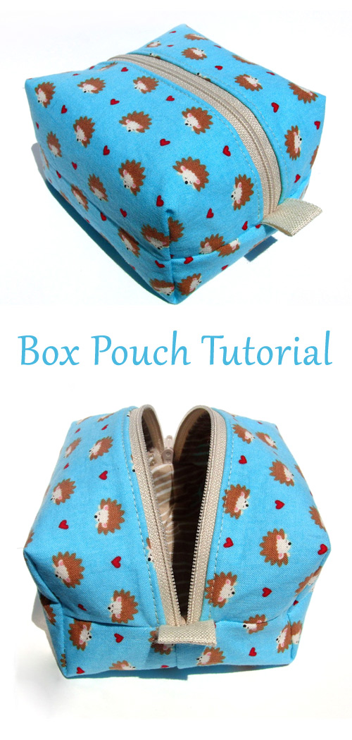 DIY Easy Zippered Box Bag Pouch Tutorial