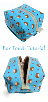 DIY Easy Zippered Box Bag Pouch Tutorial