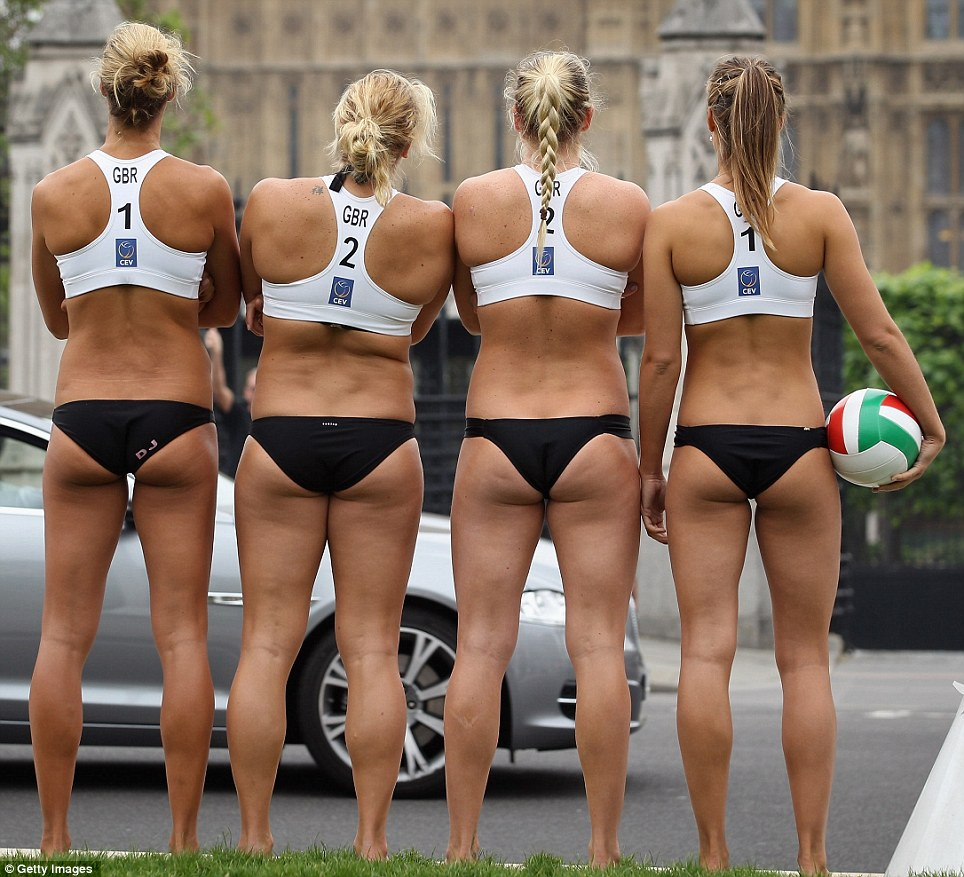 Nude Womens Beach Volleyball