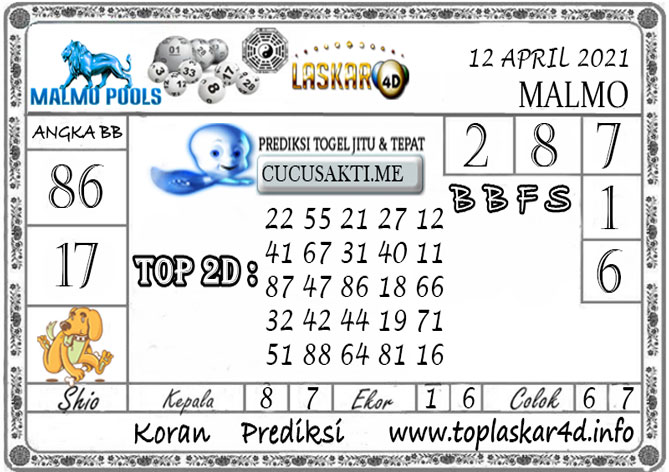 Prediksi Togel MALMO LASKAR4D 12 APRIL 2021