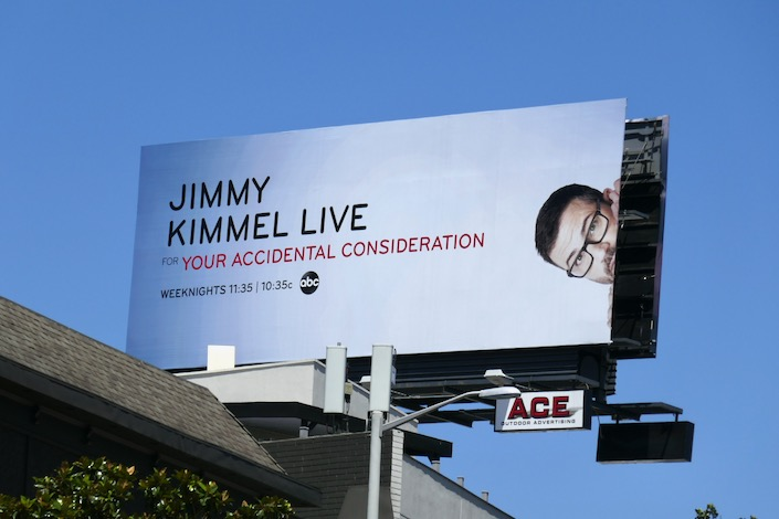 Jimmy Kimmel For accidental consideration billboard