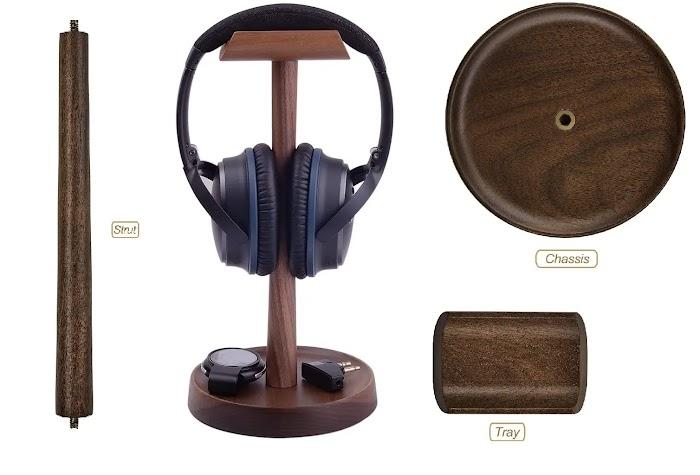 Artinova Wooden Headset Holder Headphone review