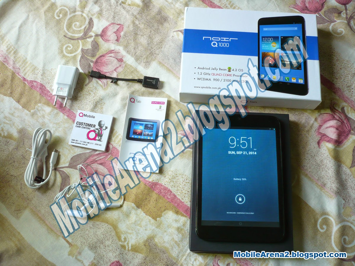 QMobile QTab Q1000 Unboxing Video - MobileAreena