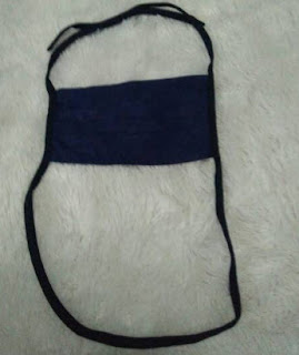 masker kain 2 lapis biru