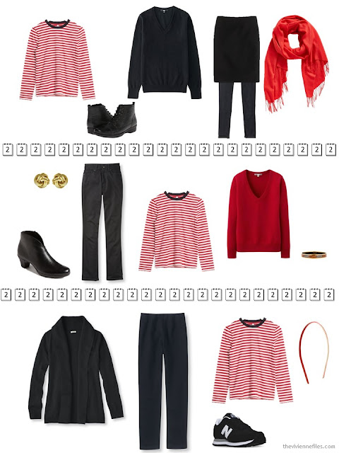 3 Outfits from a capsule wardrobe in a year without shopping
