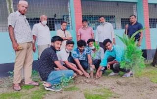 মুজিববর্ষের আহ্বানে জীবননগর কলেজ ছাত্রলীগের বৃক্ষরোপন কর্মসূচী পালিত
